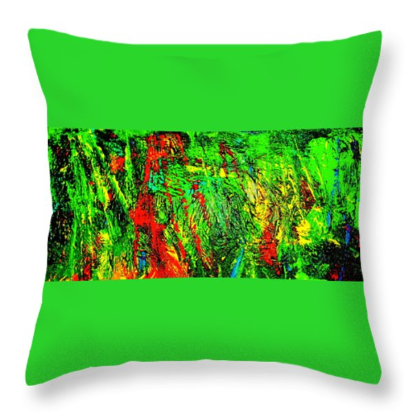 Jungle Beat Throw Pillow by Monique Wegmueller