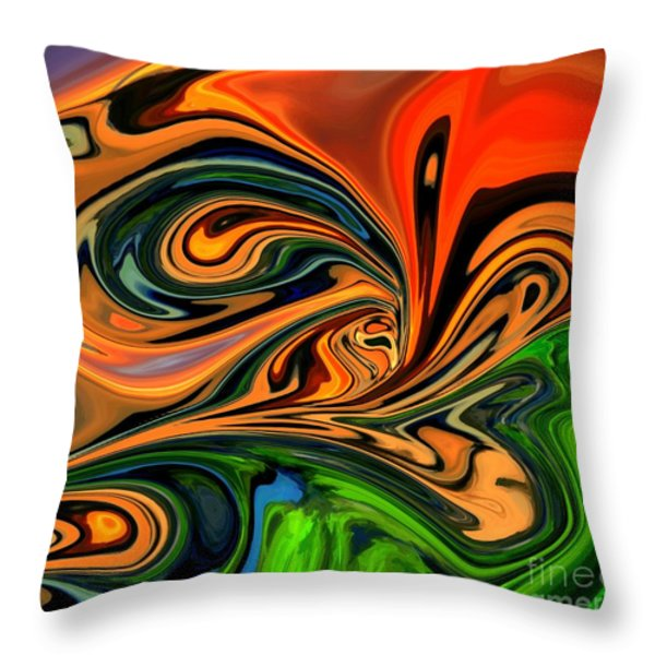 Jungle Eyes Throw Pillow by Chris Butler