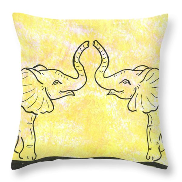 Jungle Love Throw Pillow by Susie WEBER