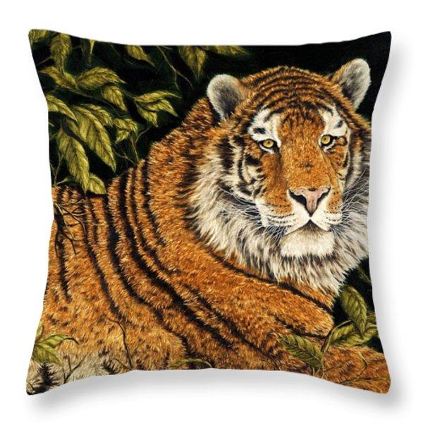 Jungle Monarch Throw Pillow by Rick Bainbridge