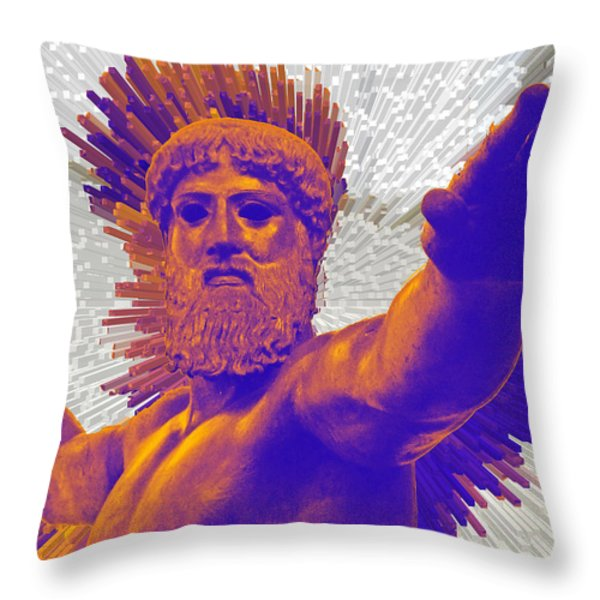 Jupiter - Zeus Throw Pillow by Augusta Stylianou