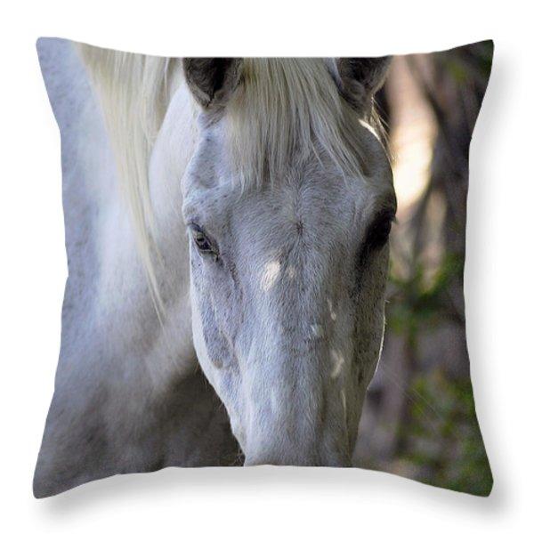 Just A Horse Throw Pillow by Juls Adams