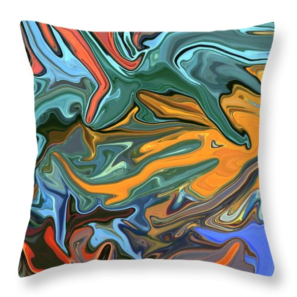 Just Abstract Vii Throw Pillow by Chris Butler