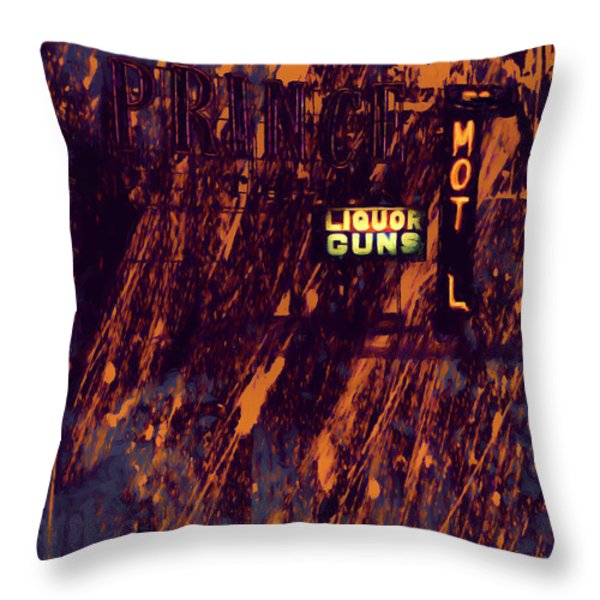 Just Another Night Throw Pillow by Bob Orsillo