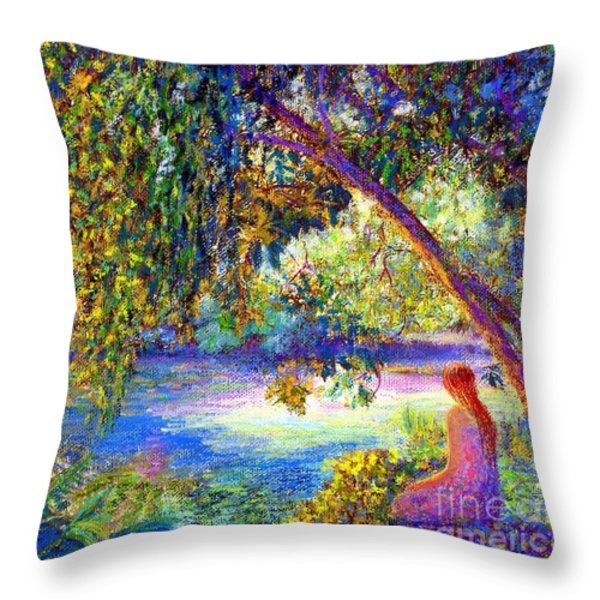 Just Be Throw Pillow by Jane Small