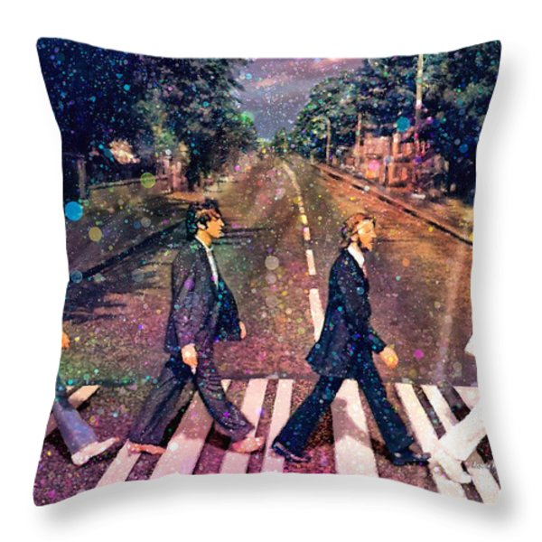 Just Crossing The Street Throw Pillow by Angela A Stanton