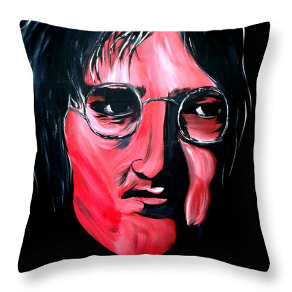Just John Throw Pillow by Mark Moore