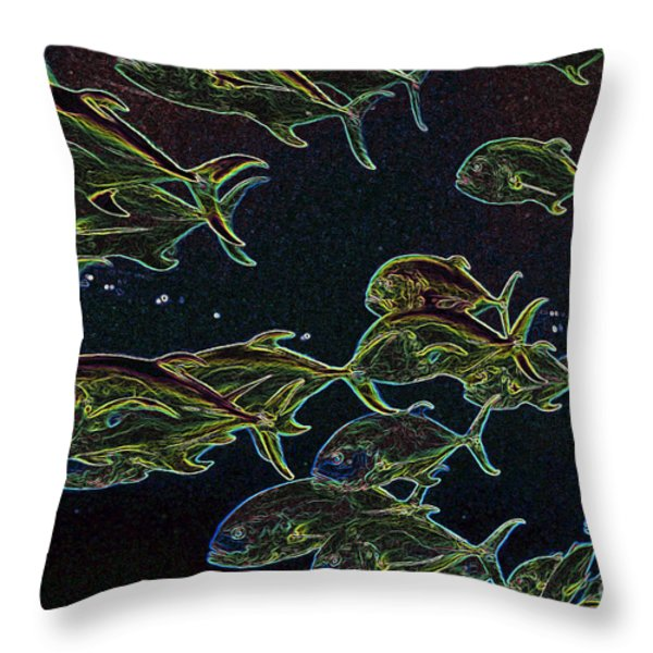 Just Keep Swimming Throw Pillow by Carol Groenen