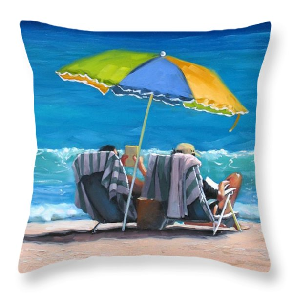 Just Leave a Message IV Throw Pillow by Laura Lee Zanghetti