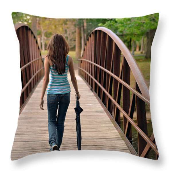 Just Walk Away Renee Throw Pillow by Laura  Fasulo