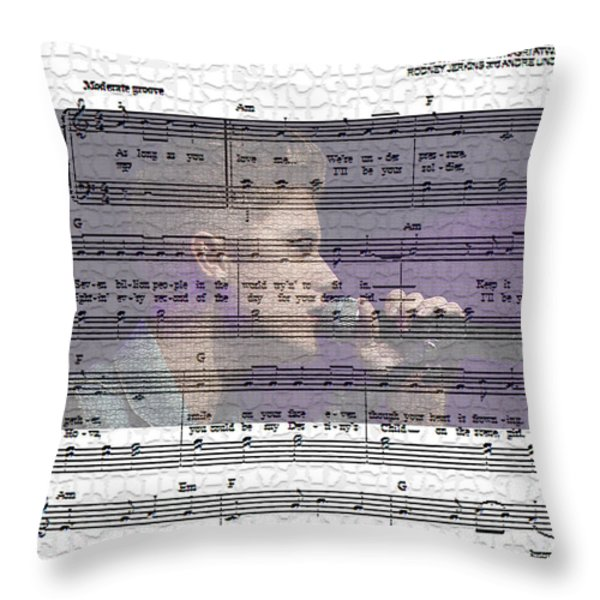 Justin Bieber As Long As You Love Me Throw Pillow by Marvin Blaine