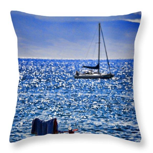 Kaana pali Beach in Maui Throw Pillow by David Smith