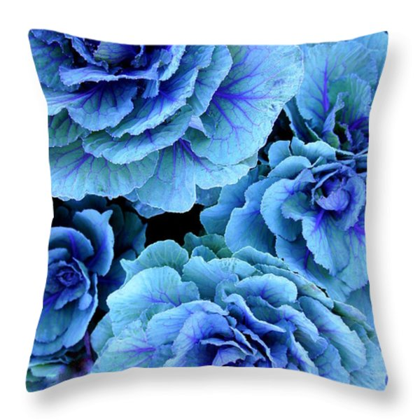 Kale Throw Pillow by Laurie Perry