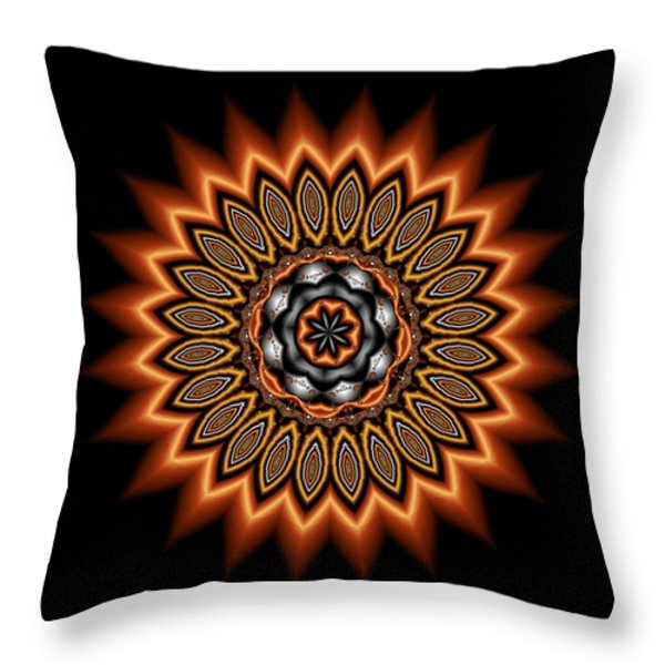kaleidoscope 1 in Precious Metals Throw Pillow by Faye Giblin