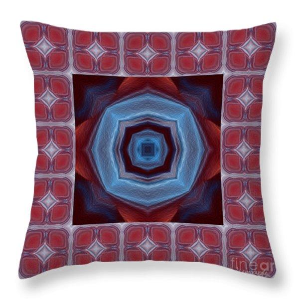 Kaleidoscope Combo 8 Throw Pillow by Louise Lamirande