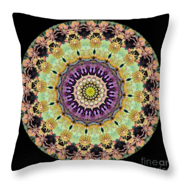 Kaleidoscope Ernst Haeckl Inspired Sea Life Series Throw Pillow by Amy Cicconi