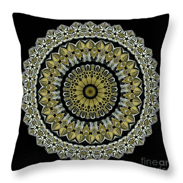 Kaleidoscope Ernst Haeckl Sea Life Series Steampunk Feel Throw Pillow by Amy Cicconi