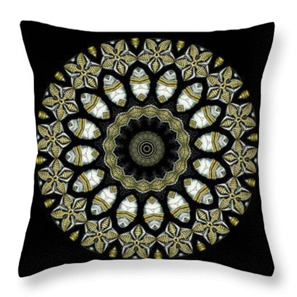 Kaleidoscope Ernst Haeckl Sea Life Series Steampunk Feel Triptyc Throw Pillow by Amy Cicconi