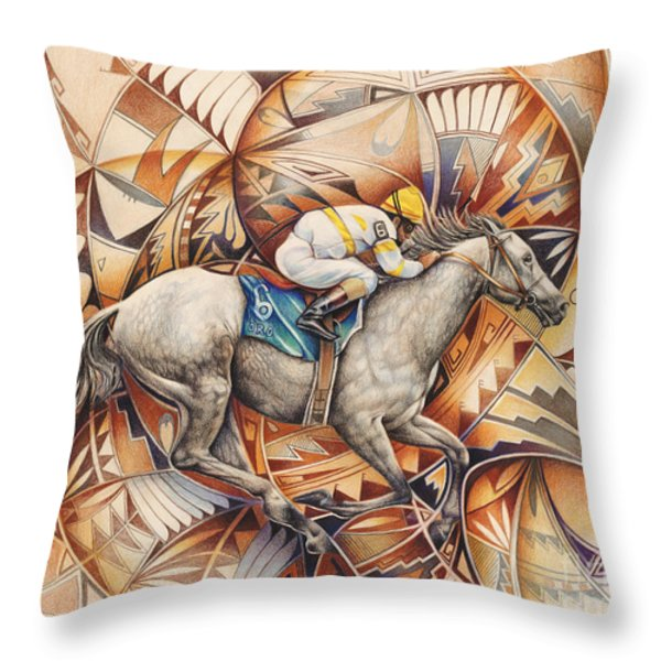 Kaleidoscope Rider Throw Pillow by Ricardo Chavez-Mendez
