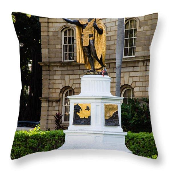 Kamehameha the Great Throw Pillow by Jon Burch Photography