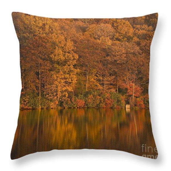 Kanawauke Lake Sundown Throw Pillow by Susan Candelario
