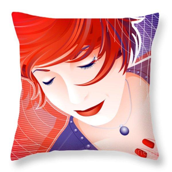 Karin Throw Pillow by Sandra Hoefer