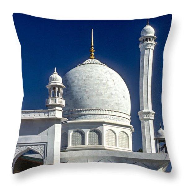 Kashmir Mosque Throw Pillow by Steve Harrington