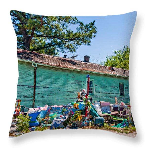 Katrina's Wrath Throw Pillow by Steve Harrington