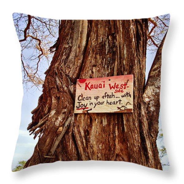 Kauai West Side Throw Pillow by Scott Pellegrin
