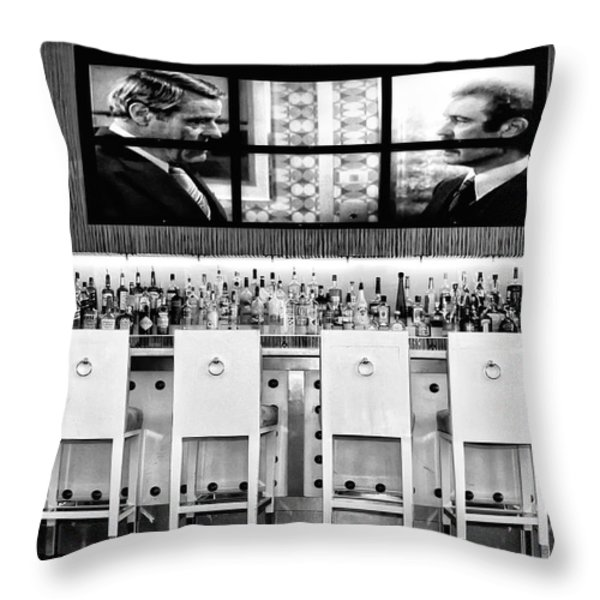 KEEP DRINKING MEN  Palm Springs Throw Pillow by William Dey