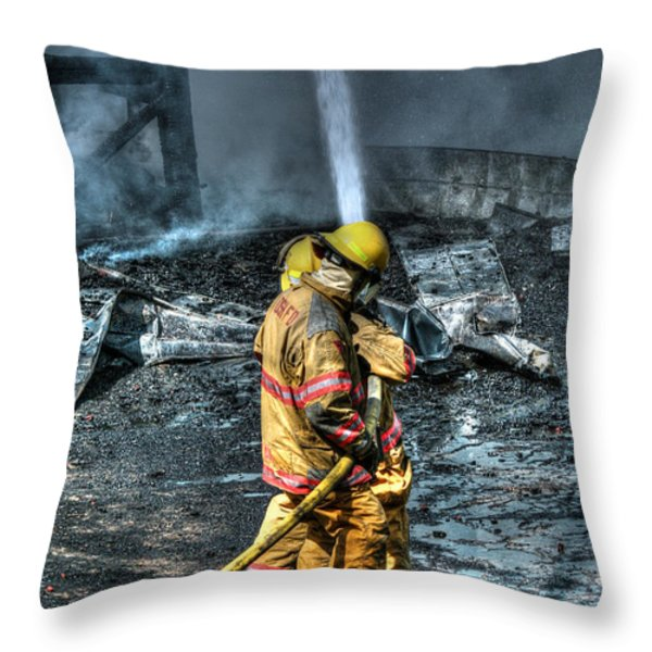 Keep Fire In Your Life No 8 Throw Pillow by Tommy Anderson