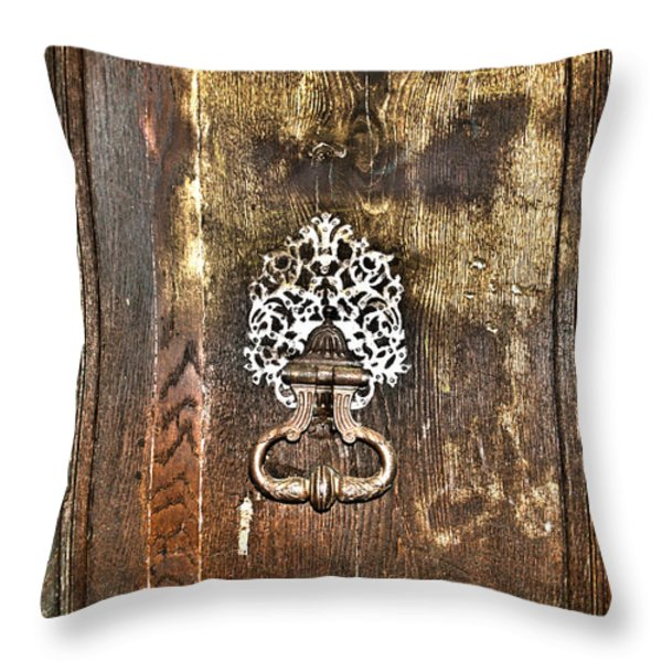 Keep On Knocking Throw Pillow by Nomad Art And  Design