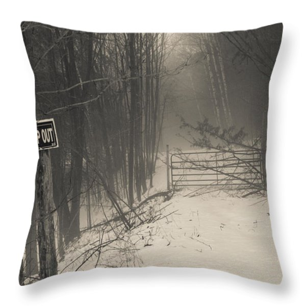 Keep Out Throw Pillow by Bill Pevlor