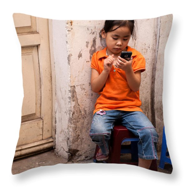 Keeping In Touch Throw Pillow by Rick Piper Photography