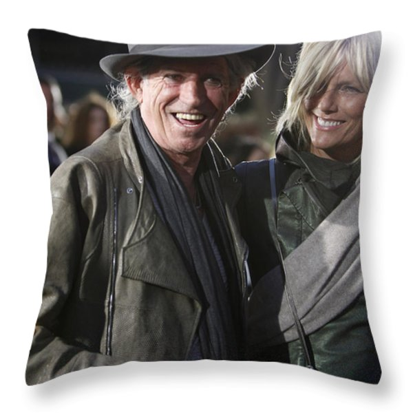 Keith Richards Throw Pillow by Nina Prommer