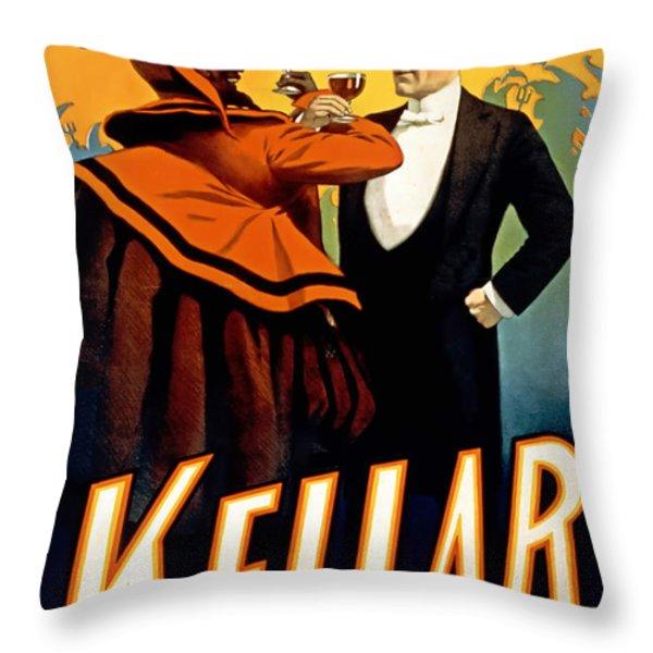 Kellar Toasts The Devil Throw Pillow by Terry Reynoldson