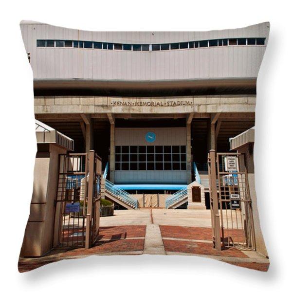 Kenan Memorial Stadium - Gate 6 Throw Pillow by Paulette B Wright