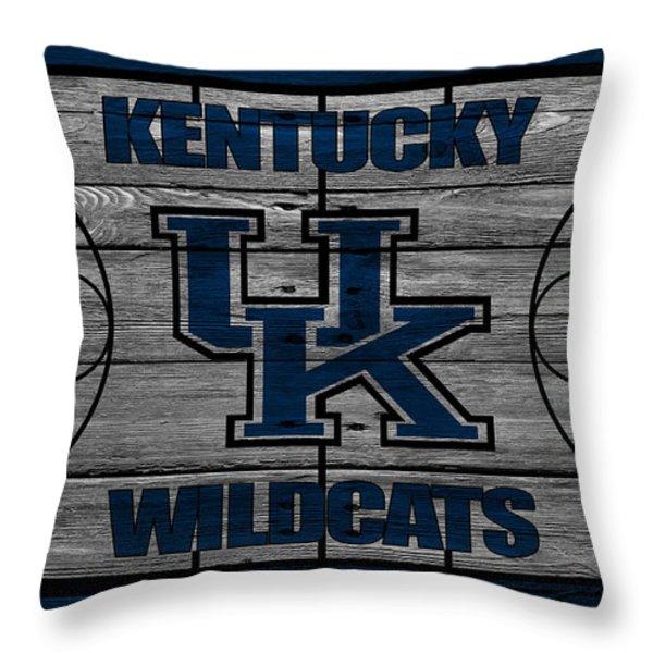 Kentucky Wildcats Throw Pillow by Joe Hamilton