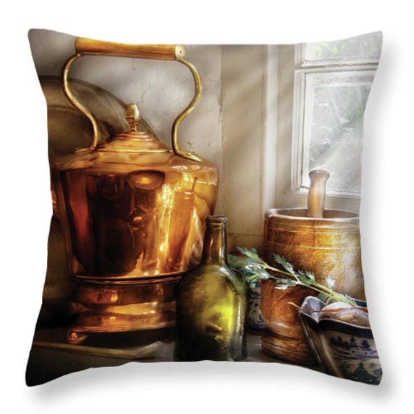 Kettle - Cherished Memories Throw Pillow by Mike Savad