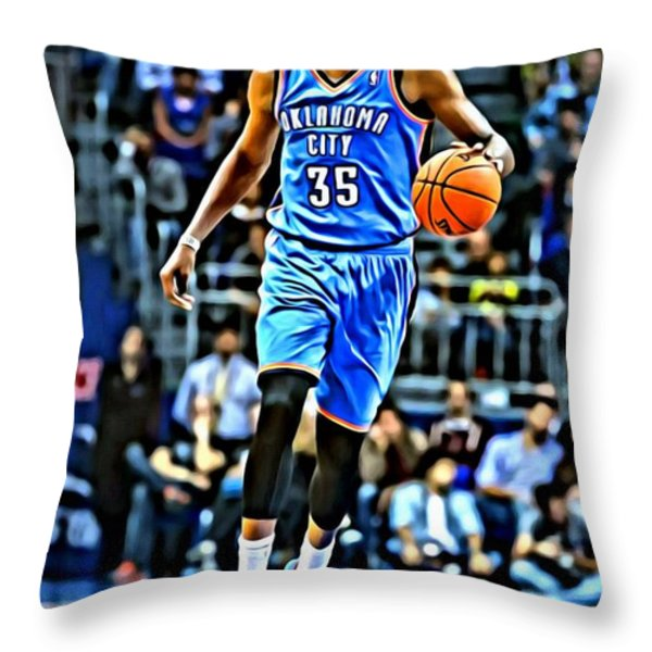 Kevin Durant Throw Pillow by Florian Rodarte