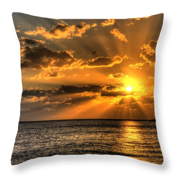 Key West Sunset Throw Pillow by Shawn Everhart