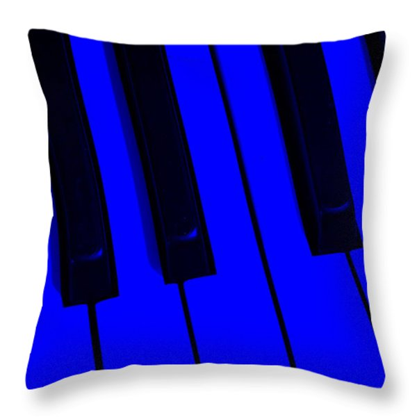 Keyboard Blues Throw Pillow by John Stephens