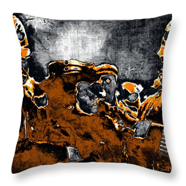 Keystone Cops - 20130208 Throw Pillow by Wingsdomain Art and Photography