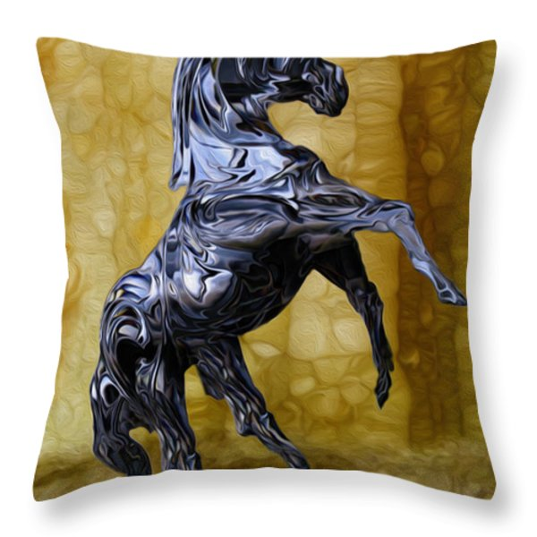 Kickin' Throw Pillow by Jack Zulli