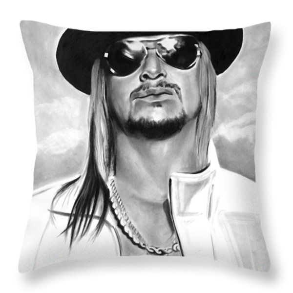 Kid Rock Throw Pillow by Brian Curran