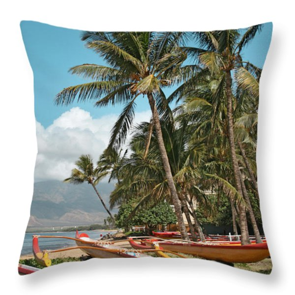 Kihei Maui Hawaii Throw Pillow by Sharon Mau