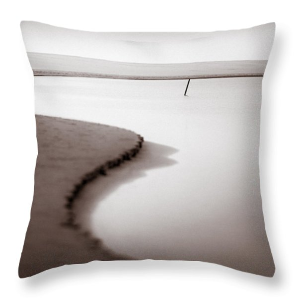 Kijkduin Beach Throw Pillow by Dave Bowman
