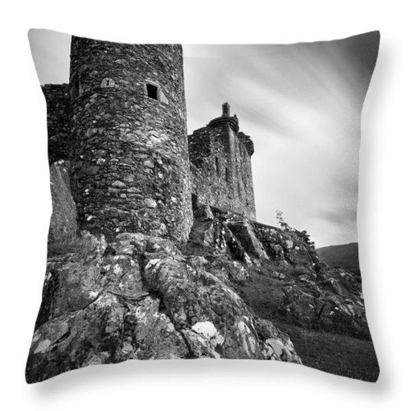 Kilchurn Castle Throw Pillow by Dave Bowman