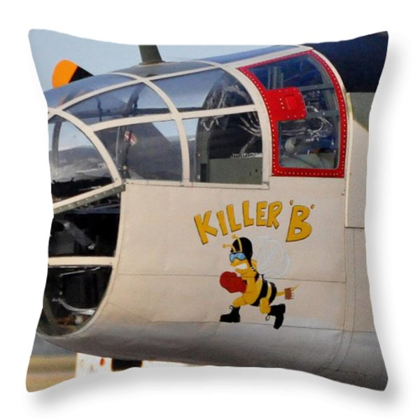 Killer Bee Throw Pillow by John Black