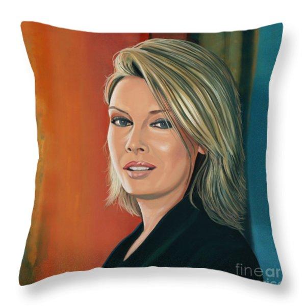 Kim Wilde Throw Pillow by Paul  Meijering